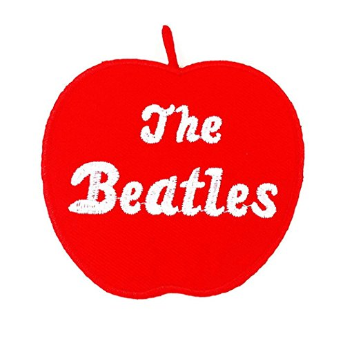 [The Beatles red Apple Music Iron on Patches Embroidered Applique] (Cherry Apple Costumes)