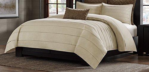 Metropolitan Home Wright Comforter Mini Set, Queen, Taupe