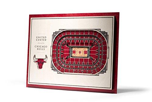 NBA Chicago Bulls 5-Layer Stadiumviews 3D Wall Art