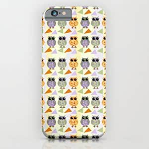 Cute Geometric Pattern Owls Diy For Iphone 5/5s Case Cover Case by Thea Walstra