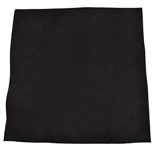 Leather Square (12 x 12 in.) for Crafts/Tooling/Hobby Workshop, Medium Weight (1.8mm) by Hide & Drink :: Charcoal Suede