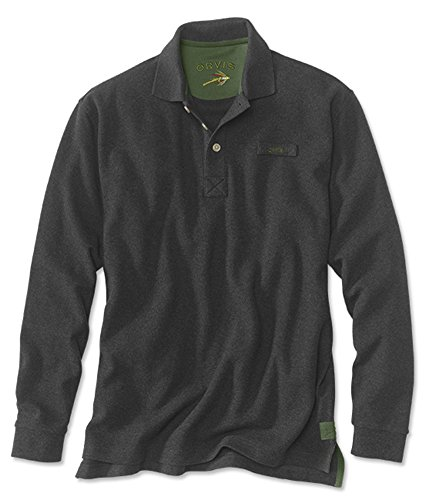 Men's The Long-sleeved Orvis Signature Polo / Tall, Charc...