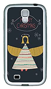 Galaxy S4 Case, Personalized Custom Protective Soft Rubber TPU White Edge Merry Christams The Angle Case Cover for Samsung Galaxy S4 I9500
