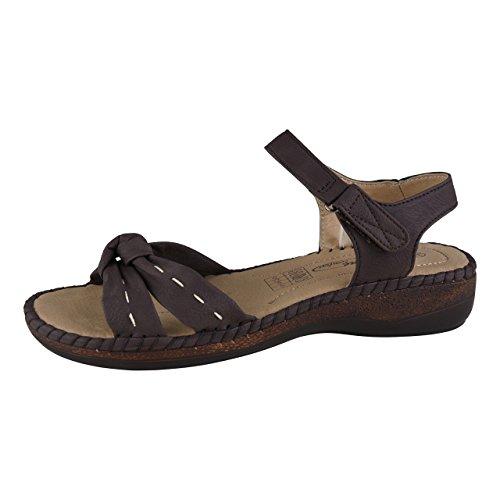 HSM Schuhmarketing - Sandalias de vestir de Material Sintético para mujer marrón marrón, color marrón, talla 41