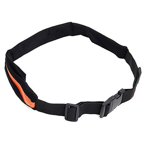 Foxpic Sport Tasche Hüfttasche Gürteltasche Bauchtasche mit 2 Fächer Multifunktion für Handy Orange