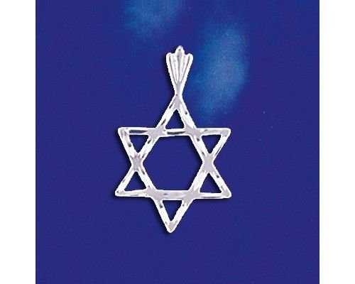 Sterling Silver Jewish Star of David Pendant Magen David Charm Solid 925 Silver - Silver Jewelry Accessories Key Chain Bracelet Necklace Pendants