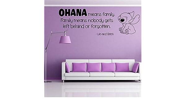 Ohana Nursery Inspired Tatuajes de pared Ohana Cita de pared ...