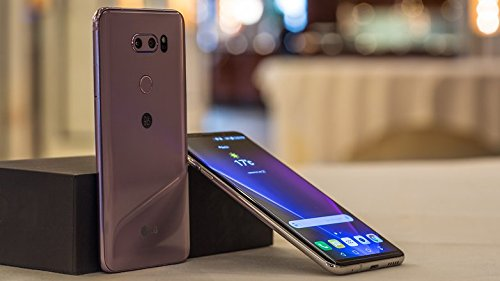 LG V30+ H930DS 128GB/4GB Dual Sim Factory Unlocked GSM Smartphone - International Version - No Warranty in the US (Violet) from LG