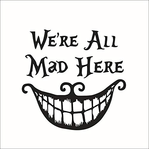 YANJUNHONG Großen Mund Wir Sind Alle Hier Wütend DIY Halloween Wohnkultur PVC Wand Fenster Aufkleber Wand Decals Dekoration]()