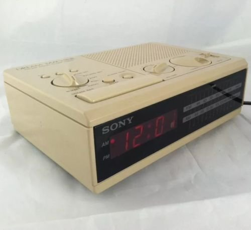 Sony Dream Machine Fm/am Digital Alarm Clock Radio Tan Vintage Retro Icf-c2w