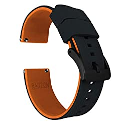 Image of the product 22mm Black/Pumpkin Orange that is listed on the catalogue brand of Barton Watch Bands.