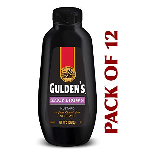 Gulden's Spicy Brown Mustard, 12-Ounce Plastic Bottles (Pack of 12) ()