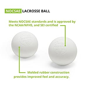Champion Sports Official Lacrosse Balls - Pack of 12, White