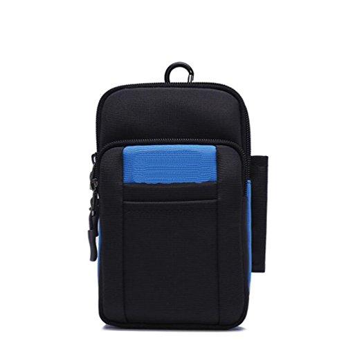 Paquete multifuncional para teléfono móvil de 6.5 pulgadas Mini bolso Monedero diagonal para hombro deportivo al aire libre Llevando un bolsillo para cinturón ( Color : B , Tamaño : Average code ) B