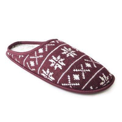 SK BRANDS - Zapatillas de estar por casa de Lana para hombre Vino