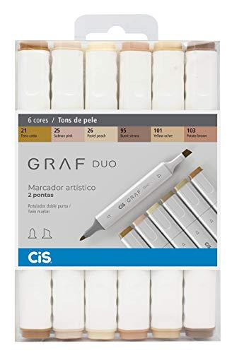 Marcador Graf Duo Multicor Pacote