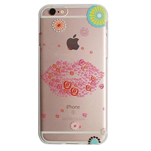 For iphone 7 case,Transparente TPU Coque Silicone Case Ultra Slim Premium Soupe Skin de Protection Pare-Chocs Anti-Choc Hülle pour Apple iPhone 7 (4.7 pouces)-Souris