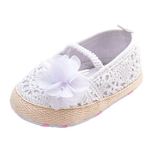 Infant Girls' Shoes Floral Net Yarn Net Yarn Ballerina Us Sizes (12-18month, white)