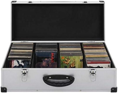 vidaXL Maletín para 80 CDs Aluminio y ABS Plateado Caja Organizadora Música DJ: Amazon.es: Electrónica