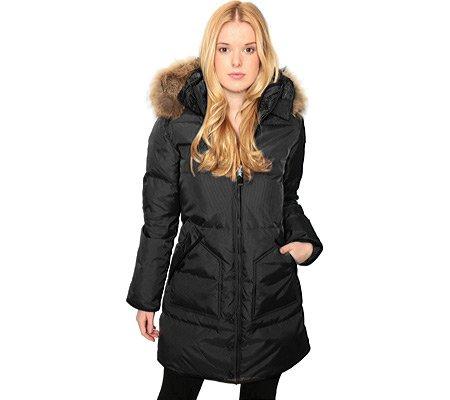 De plumón de Pajar para mujer de pelo diseño de Puma de conejo almohadilla de silla de chaqueta para con forro con chaqueta de negro