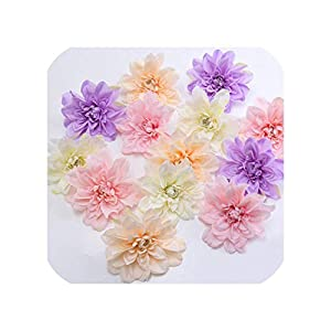30Pcs Artificial Silk Dahlia Peony Flowers Head DIY Home Wedding Party Holiday Backdrop Decorations Crafts Flower Wall Arches 50