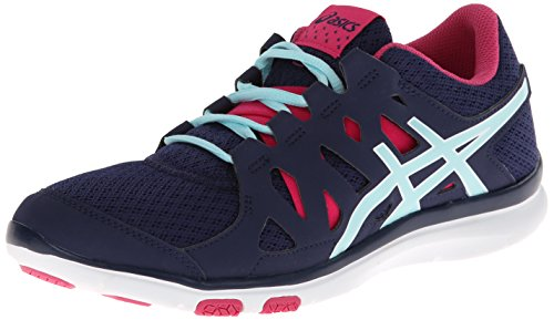 ASICS Womens Gel Fit Tempo Cross-Training ShoeNavyIce BlueHot Pink8 M US