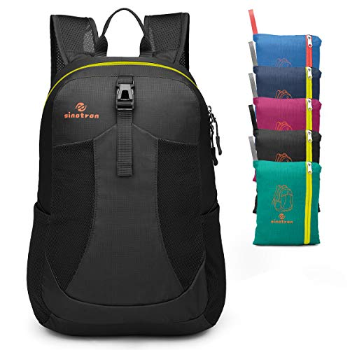 Sinotron Lightweight Packable Backpack, Small Foldable Hiking Backpack Day Pack for Travel Camping Outdoor Vacation