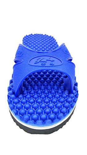 Meimei Massage Flip-flops Unisex Tofflor Miljövänliga, Anti Glider & Bekvämt Platta Sandaler Blå