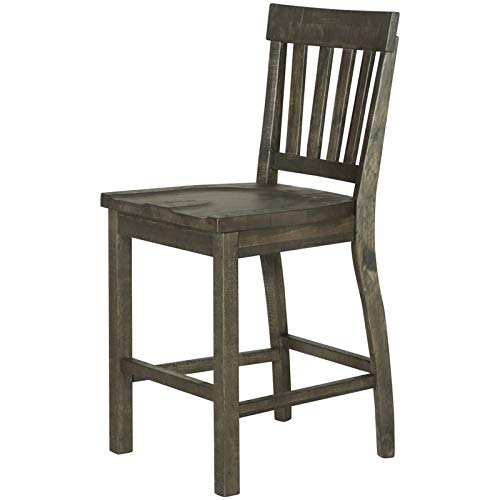 Magnussen Counter Stool in Weathered Pine - Set of 2