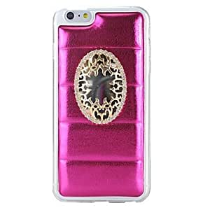PG Pearly Lustre Inlaid Mirror Back Cover TPU+PU Case For iPhone 6 Plus(White)