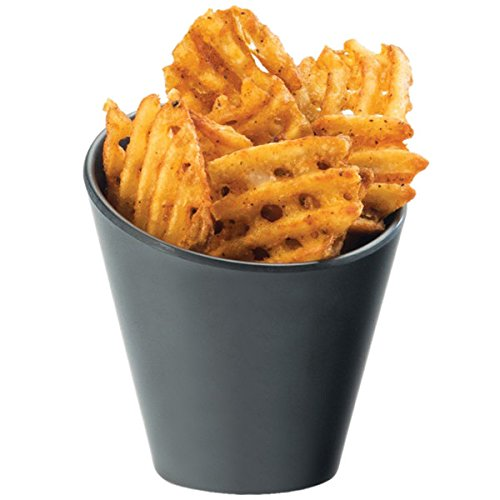 Cal-Mil 3600-65M Faux Slate Concave French Fry Holder - 4 1/4'' x 4 1/4''