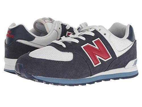 [new balance(ニューバランス)] メンズランニングシューズ?スニーカー?靴 GC574v1 (Big Kid) Navy/Red 4.5 Big Kid (23cm) M
