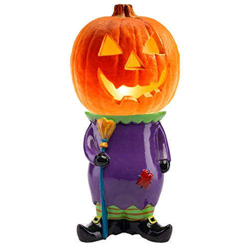 Small Skeleton Pumpkin Decoration Display (Fresh Décor Pumpkin Stand Halloween Display Large Jackolantern Holder Outdoor Indoor Décor)