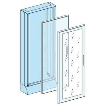 Schneider Electric 08224 Porte Pleine pour Armoire, 33 Modules, 1650 mm Hauteur, 600 mm Largeur, Blanc