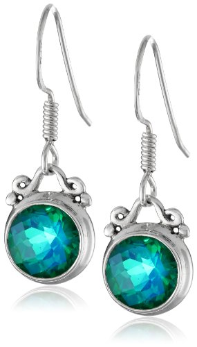 Richline Sterling Silver Caribbean Quartz Drop Earrings