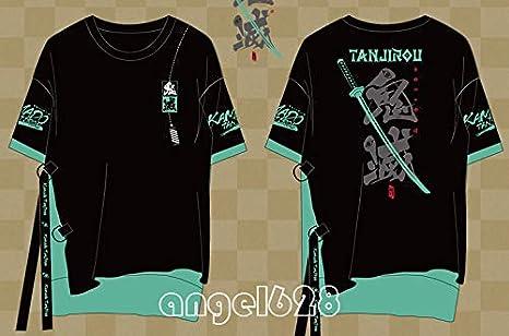 アニメTシャツ 鬼滅の刃 竈門 炭治郎 Tシャツ tシャツ シャツ 半袖 男女兼用 通常用 学生用 (XL)