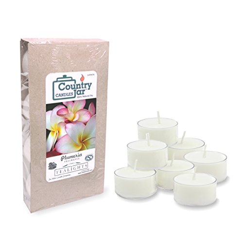 Country Jar Plumeria Tealights 10 20 30 product image
