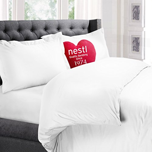Nestl Bedding Duvet Cover, Protects and Covers your Comforter / Duvet Insert, (Bed Sheets Duvet Covers)