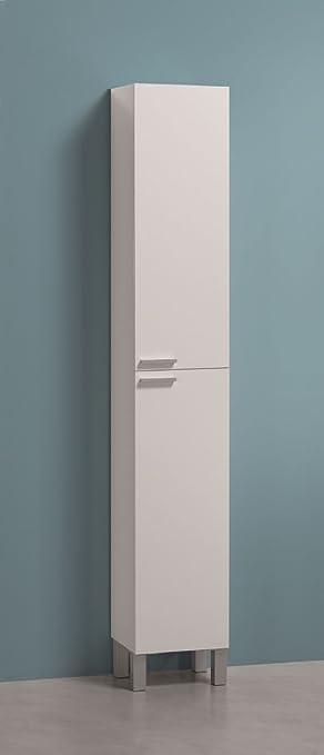 Peachy Alaska Tall Narrow White Bathroom Cupboard Storage Cabinet Download Free Architecture Designs Itiscsunscenecom