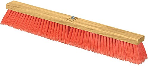 Carlisle 3610222424 Flo-Pac Juno Style Hardwood Block Sweep, Polypropylene Bristles, 24'' Length, Orange by Carlisle (Image #1)