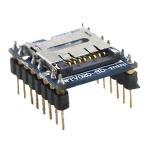 SODIAL(R)1 PCS Excellent U-disk audio player Voice Module SD Card SD-Voice module WTV020 (Go Audio Distribution Modules)