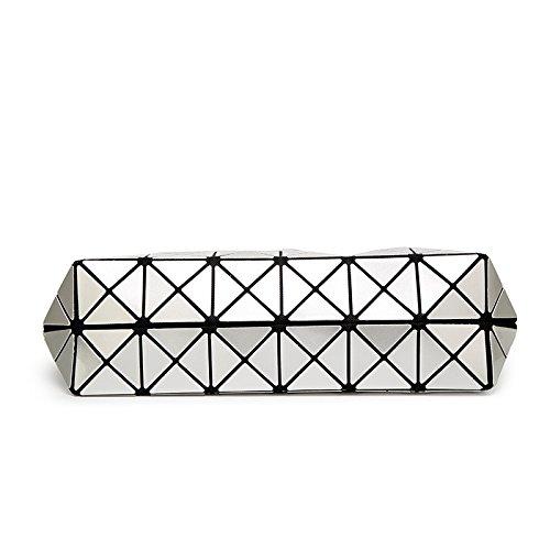 Borsa Geometrica Tracolla Donna Borsetta Silver Pieghevole Lingge Wlfhm afR66