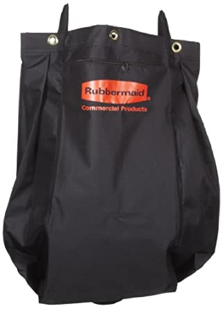 """Rubbermaid 9T81 30 gallon Capacity, 33"""" Length x 10-1/2"""" Width x 17-1/2"""" Height, Black Color, Compact Fabric Replacement Bag, 2 per Carton"""