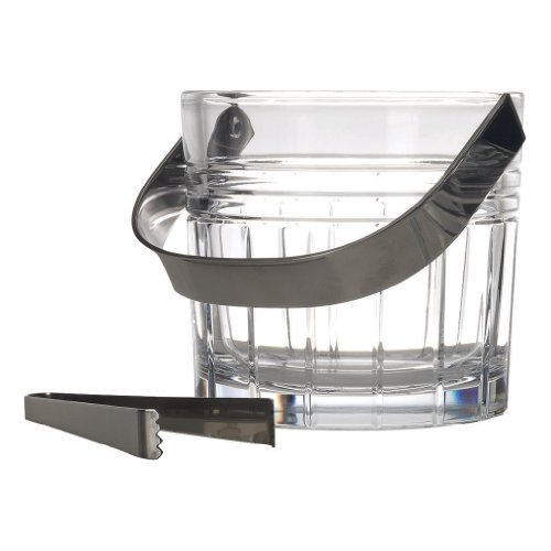 (Reed & Barton Tempo Ice Bucket with Tongs)