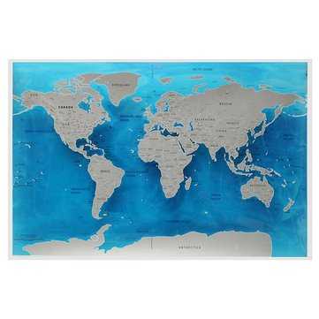 (Scrape Correspondence - World Map Ocean Scratch Foil Layer Coating Deluxe 4x82 5cm - Excoriation Itch Represent Chicken Feed Abrasion Cacography Scraping - 1PCs)