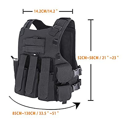 MGFLASHFORCE Tactical Airsoft Vest with Helmet Holder and Holster