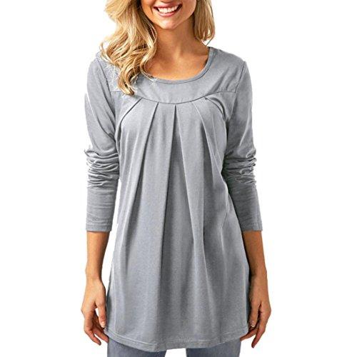 [S-2XL] レディース Tシャツ 無地 ラウンドネック 折ります 長袖 トップス おしゃれ ゆったり カジュアル 人気 高品質 快適 薄手 ホット製品 通勤 通学