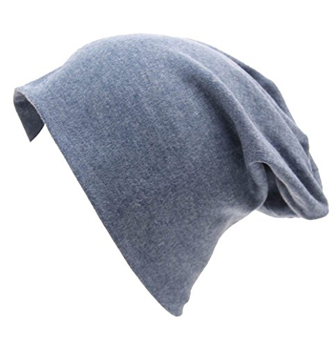 XiFe Unisex Indoors Cotton Beanie- Soft Sleep Cap for Hairloss, Cancer, Chemo (Cowboy Color) ()