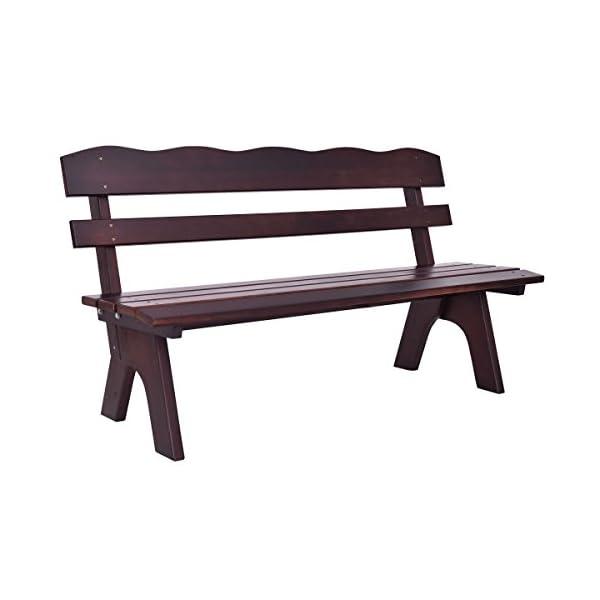 Giantex-Wooden-Garden-Bench-Chair-Wood-Frame-Outdoor-Yard-Deck-Furniture-5-Ft-3-Seats