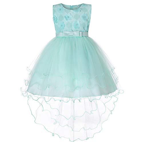 - Anxinke Little Girls Flower Sleeveless Bowknot Tulle Gown Dress (18-24 Months, Green)